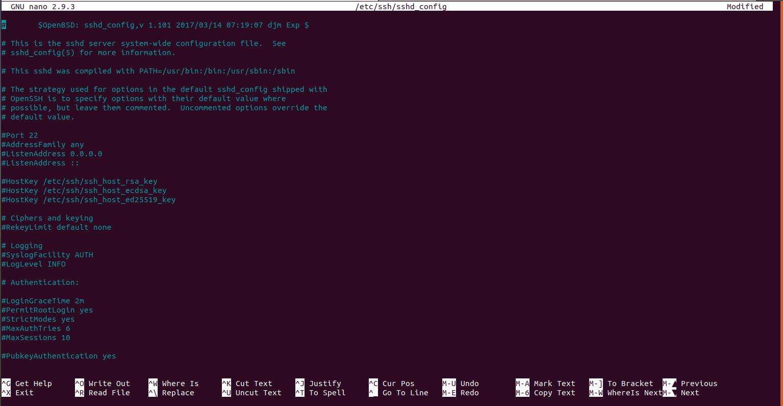 ساختار فایل تنظیمات ssh