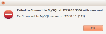 رفع خطای 2003 (HY000): Can't connect to MySQL server on '127.0.0.1' (111)