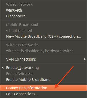 اطلاعات شبکه از طریق محیط گرافیکی